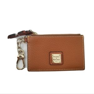Dooney and Bourke Pebble Grain Brown Wallet Card